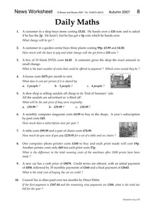 News Worksheet 2007
