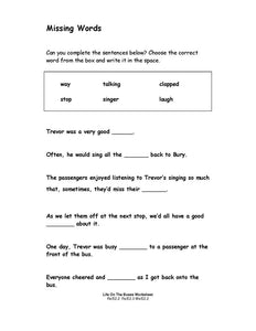 Life On The Buses Student Worksheets (PDF)