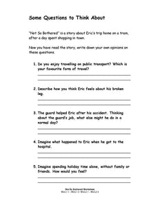 Not So Bothered Student Worksheets (PDF)