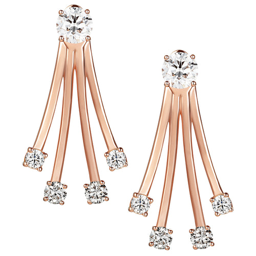 Diamond Gold Dive Earrings - Simonian