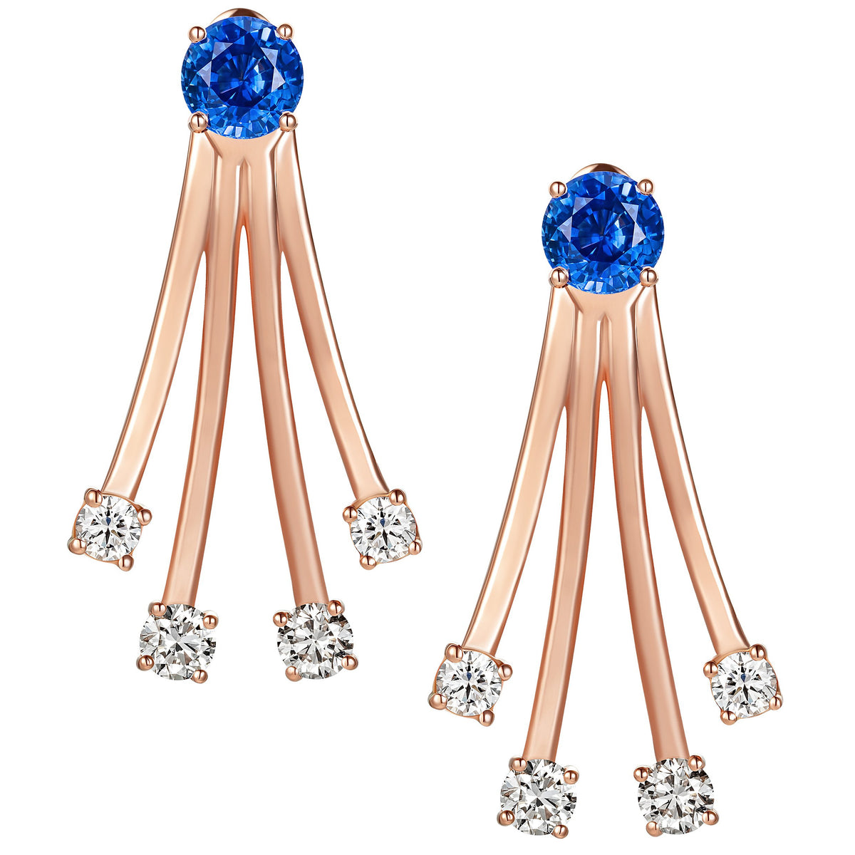 Sapphire Gold Dive Earrings - Simonian