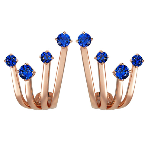 Sapphire Embrace Earrings - Simonian