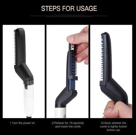 3-in-1 Beard & Hair Styling Comb