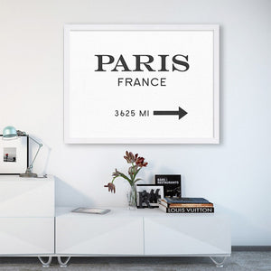 This way to paris Canvas
