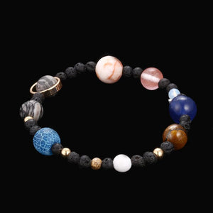 New! Handmade Solar System Bracelet With REAL Gemstones Bracelet Supply and Vibe