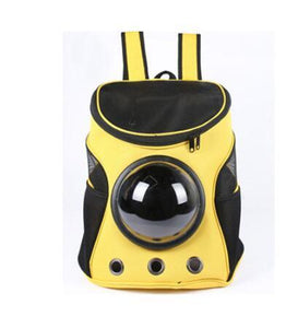 Breathable Space Capsule Shaped Backpack For Dogs & Cats Backpack Supply and Vibe yellow 35x31x25cm