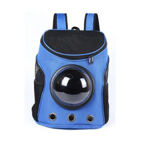 Breathable Space Capsule Shaped Backpack For Dogs & Cats Backpack Supply and Vibe blue 35x31x25cm