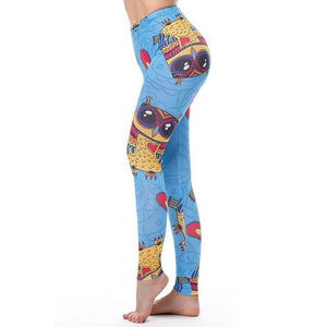 Women's Fitness Leggings - High Waist - Unique & Fun Fashion! Leggings Supply and Vibe Owl Leggings One Size