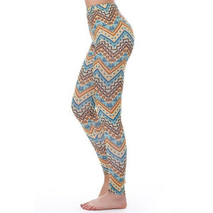 Women's Fitness Leggings - High Waist - Unique & Fun Fashion! Leggings Supply and Vibe Aztec Leggings One Size