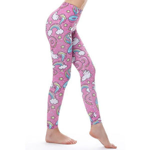 Women's Fitness Leggings - High Waist - Unique & Fun Fashion! Leggings Supply and Vibe Unicorn Leggings One Size