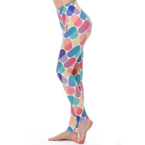 Women's Fitness Leggings - High Waist - Unique & Fun Fashion! Leggings Supply and Vibe Multi Color Leggings One Size