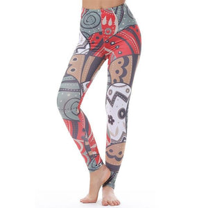 Women's Fitness Leggings - High Waist - Unique & Fun Fashion! Leggings Supply and Vibe Trippy Leggings One Size