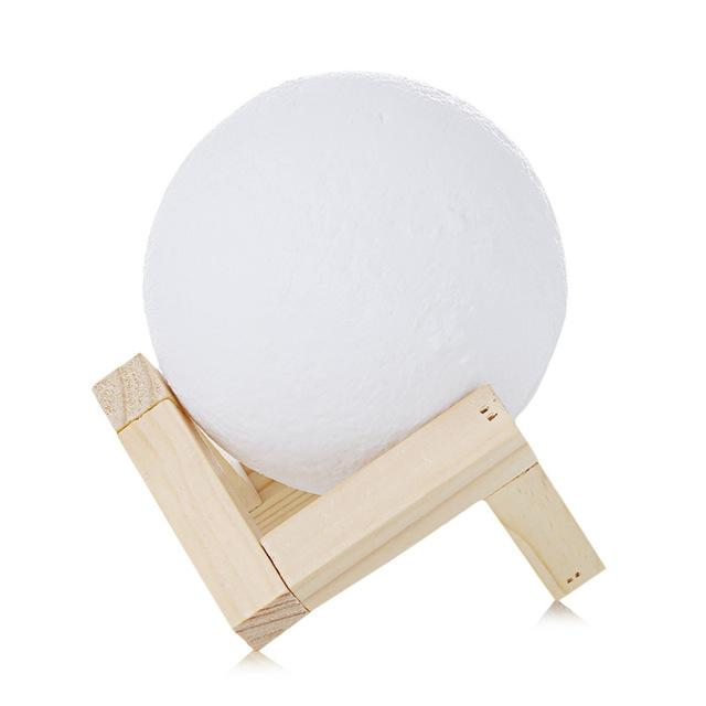 Rechargeable 3D Printed Moon Lamp - 50% Off For A Limited Time! Lamp Supply and Vibe 10cm