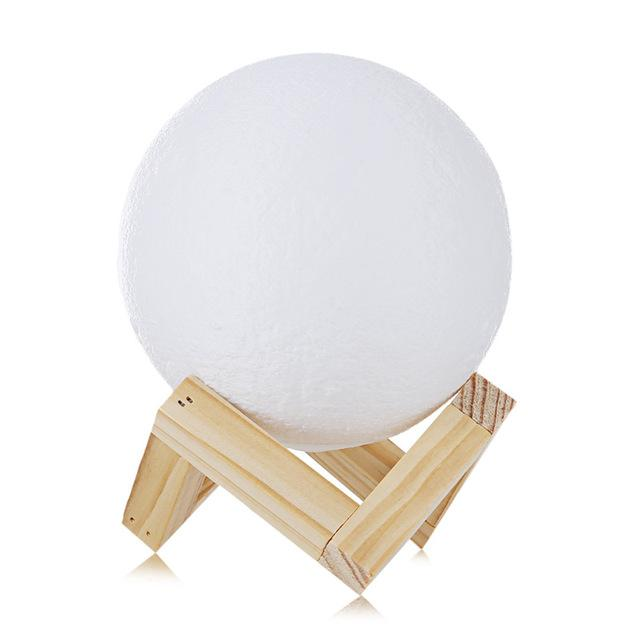 Rechargeable 3D Printed Moon Lamp - 50% Off For A Limited Time! Lamp Supply and Vibe 12cm