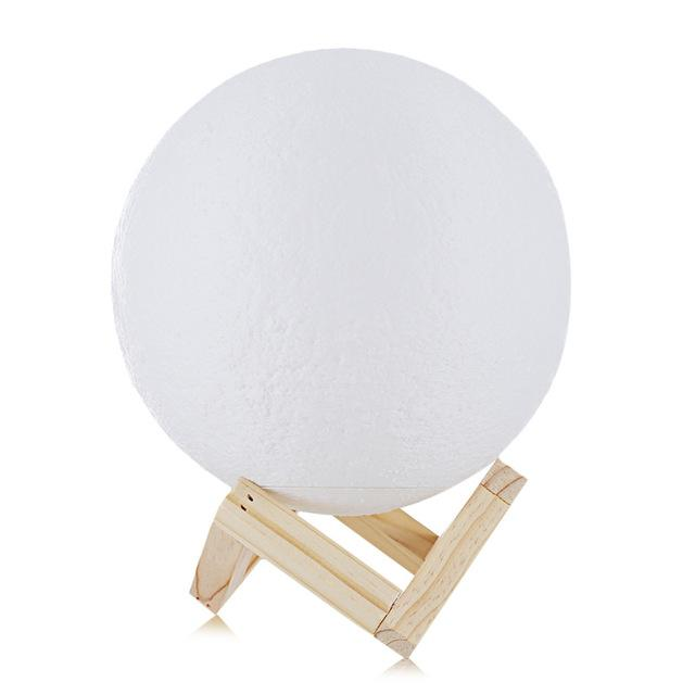 Rechargeable 3D Printed Moon Lamp - 50% Off For A Limited Time! Lamp Supply and Vibe 18cm
