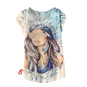 New Vintage Women's Print T-Shirts Shirts Supply and Vibe H One Size