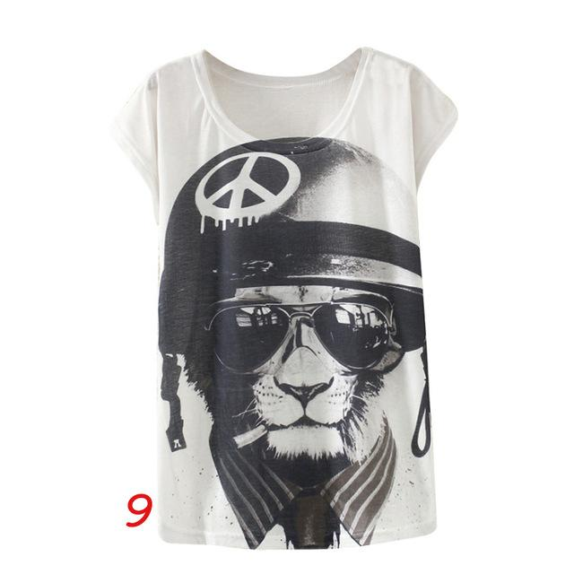 New Vintage Women's Print T-Shirts Shirts Supply and Vibe I One Size