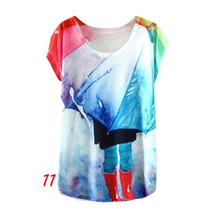 New Vintage Women's Print T-Shirts Shirts Supply and Vibe K One Size
