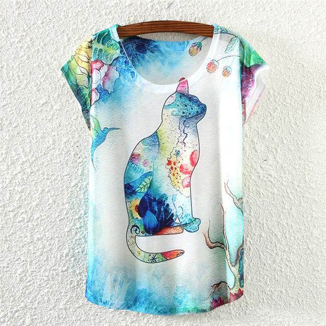 New Vintage Women's Print T-Shirts Shirts Supply and Vibe L One Size