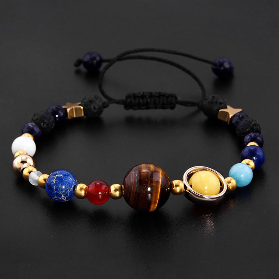 New! Universe Inspired Planet Bracelet - Easily Adjustable Bracelet Supply and Vibe