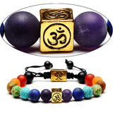 Natural Stone Chakra Charm Bracelet Bracelet Supply and Vibe