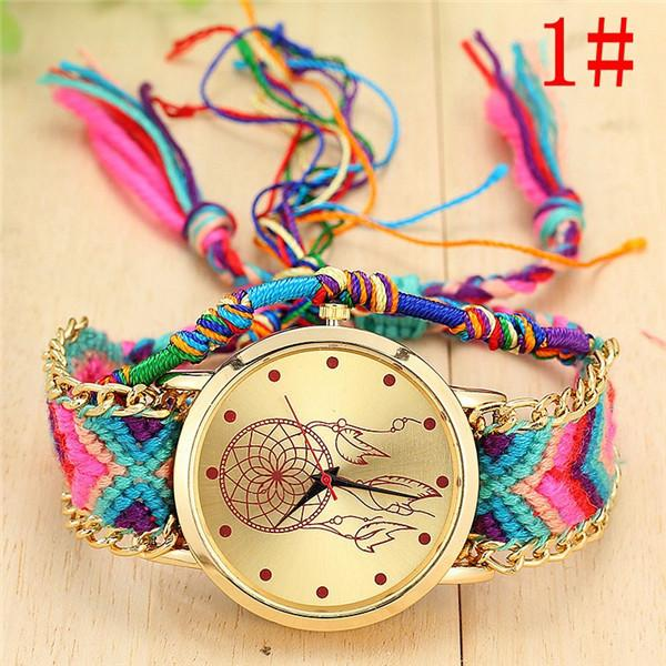 New Arrival! Handmade Braided Dream Catcher Friendship Bracelet Watch watch Supply and Vibe 1