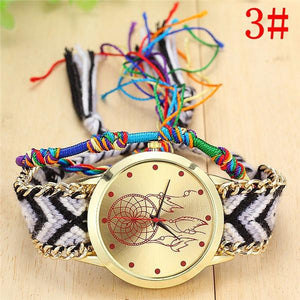 New Arrival! Handmade Braided Dream Catcher Friendship Bracelet Watch watch Supply and Vibe 3