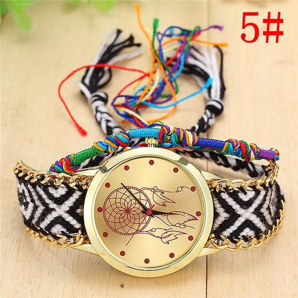 New Arrival! Handmade Braided Dream Catcher Friendship Bracelet Watch watch Supply and Vibe 5