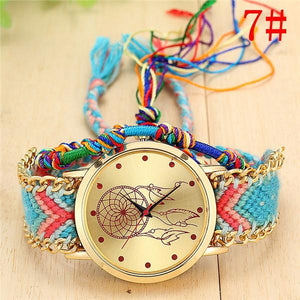 New Arrival! Handmade Braided Dream Catcher Friendship Bracelet Watch watch Supply and Vibe 7
