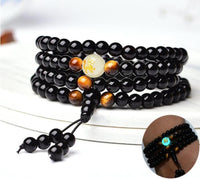 Lucky Buddha Beads with Tiger's Eye & Glow in the Dark Stone Bracelet - Necklace Bracelet Supply and Vibe