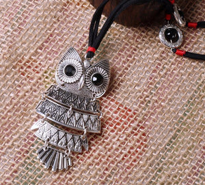 Vintage Bohemian Owl Pendant Necklace Necklace Supply and Vibe