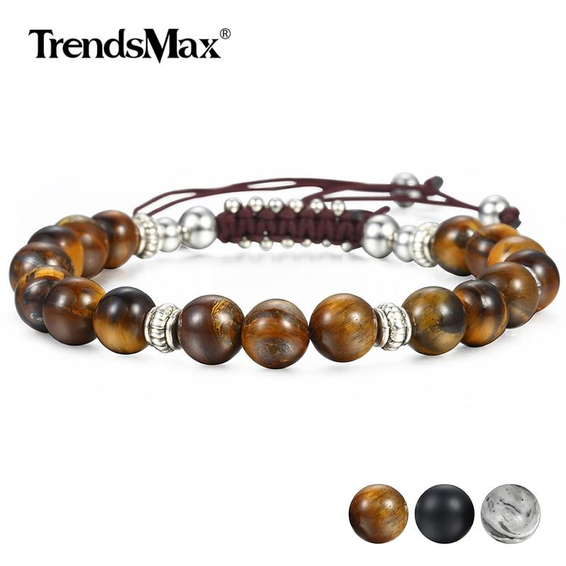 Unique 8mm Men's Women's Natural Tiger Eye Stone Beaded Bracelets Handmade Bracelets Male Dropshipping Wholesale Jewelry DBM12 Supply & Vibe