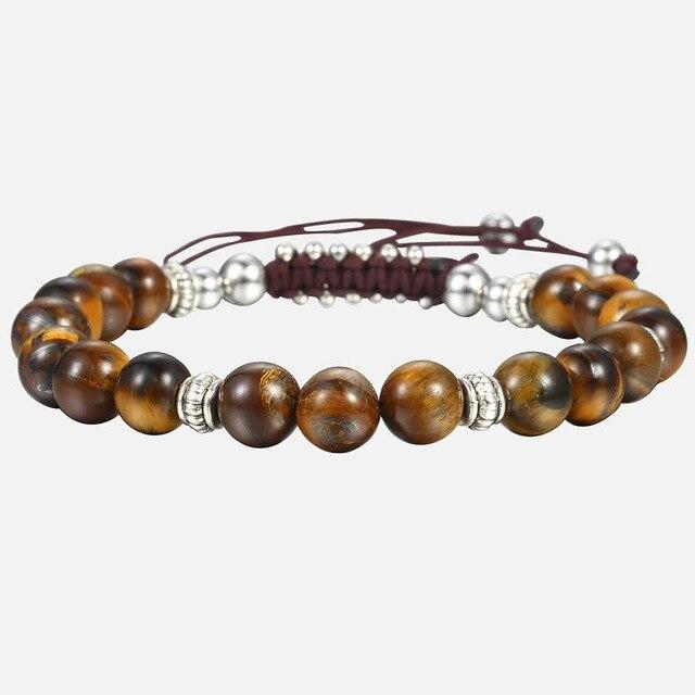 Unique 8mm Men's Women's Natural Tiger Eye Stone Beaded Bracelets Handmade Bracelets Male Dropshipping Wholesale Jewelry DBM12 Supply & Vibe DB56Tiger eye stone