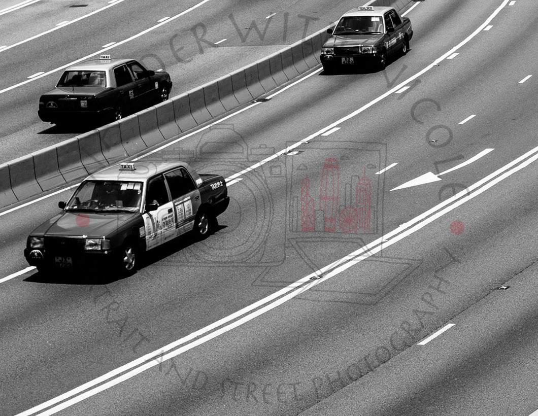 Three Taxi's | Photographic Print