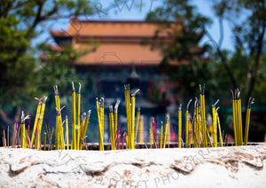 Temple Incense | Photographic Print