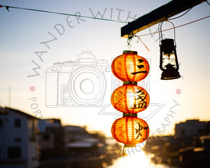 Lantern Sunset | Photographic Print