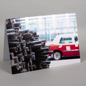 Bamboo Taxi Greeting Card