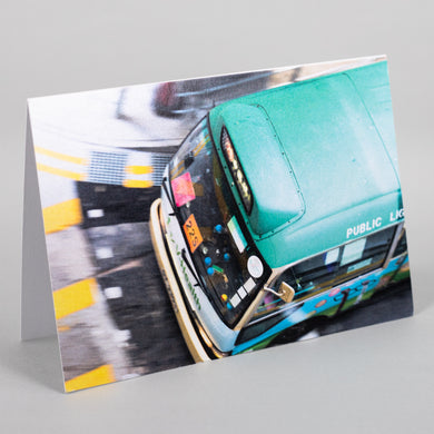 Mini Bus Greeting Card