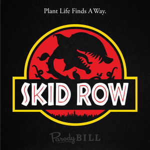 Skid Row, Musical Mashup of Jurassic Park and Jurassic World with Little Shop of Horrors; Tshirt, TShirts, Graphic Tee, Graphic Tees, Broadway Merchandise