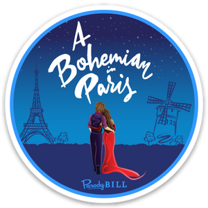 A Bohemian in Paris Die Cut Sticker