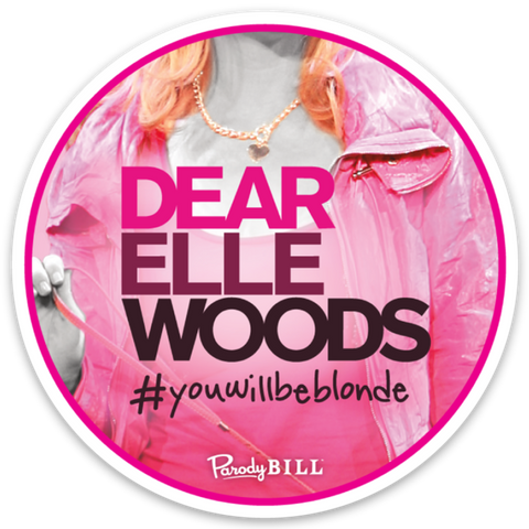 Dear Elle Woods Die Cut Sticker