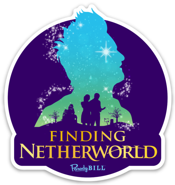 Finding Netherworld Die Cut Sticker