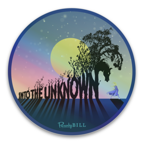 Into the Unknown Holographic Die Cut Sticker