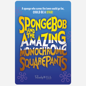 Spongebob and the Amazing Monochrome Squarepants Sticker