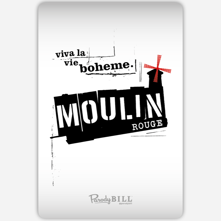 Moulin Rent Sticker