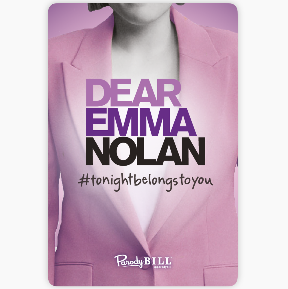 Dear Emma Nolan Sticker