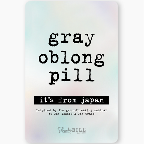 Gray Oblong Pill Sticker