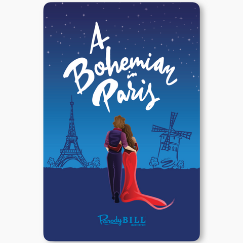 A Bohemian in Paris Sticker