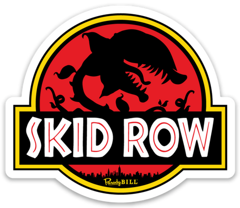 Skid Row Die Cut Sticker