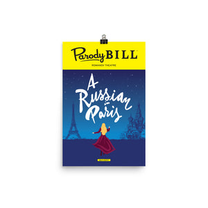 A Russian in Paris - Parodybill Poster